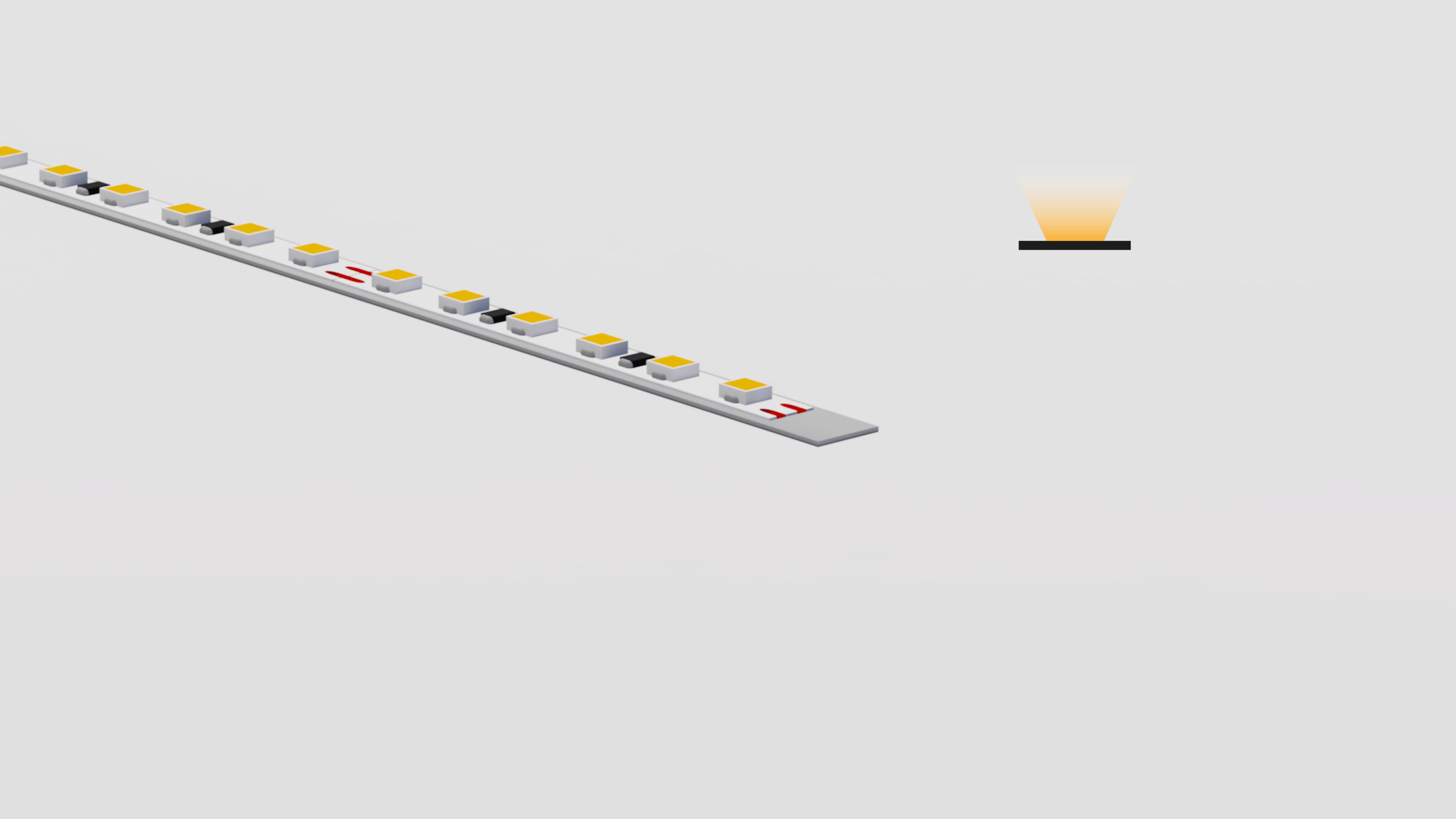 Bandella flessibile in alluminio – superfici piane spazi ridotti – PR002