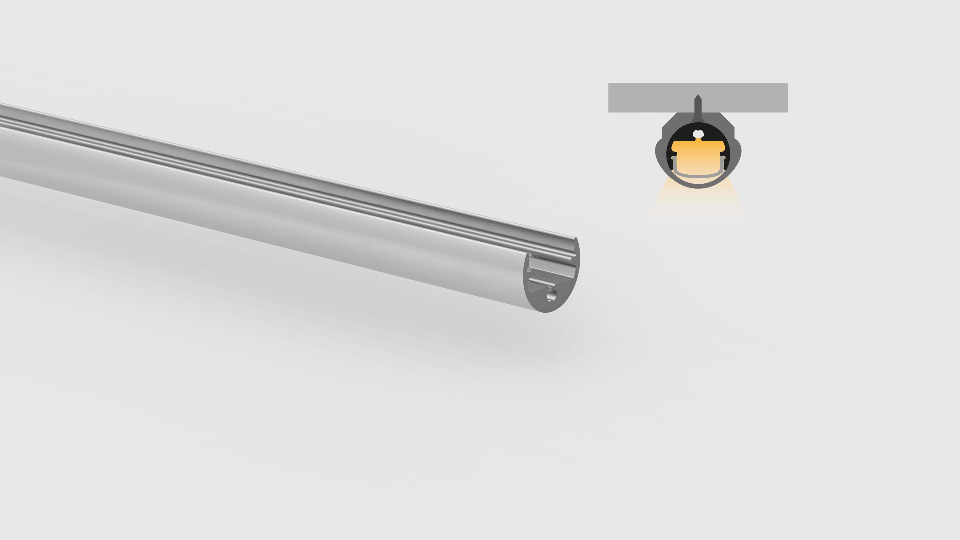 Profilo in alluminio – superfici piane – PR118