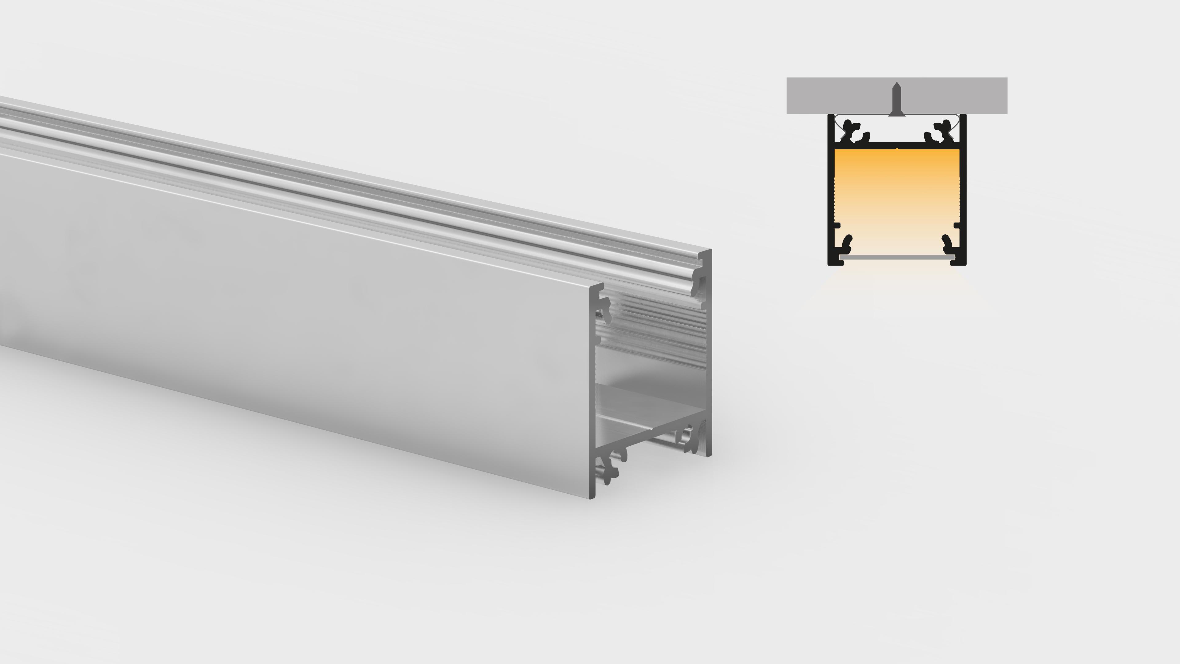 Profilo in alluminio – superfici piane – PR120