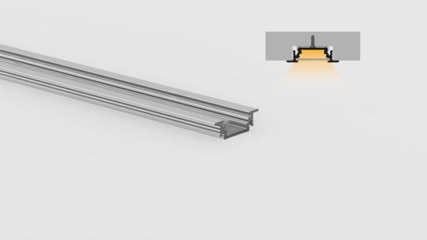 Profilo in alluminio - ad incasso - PR200