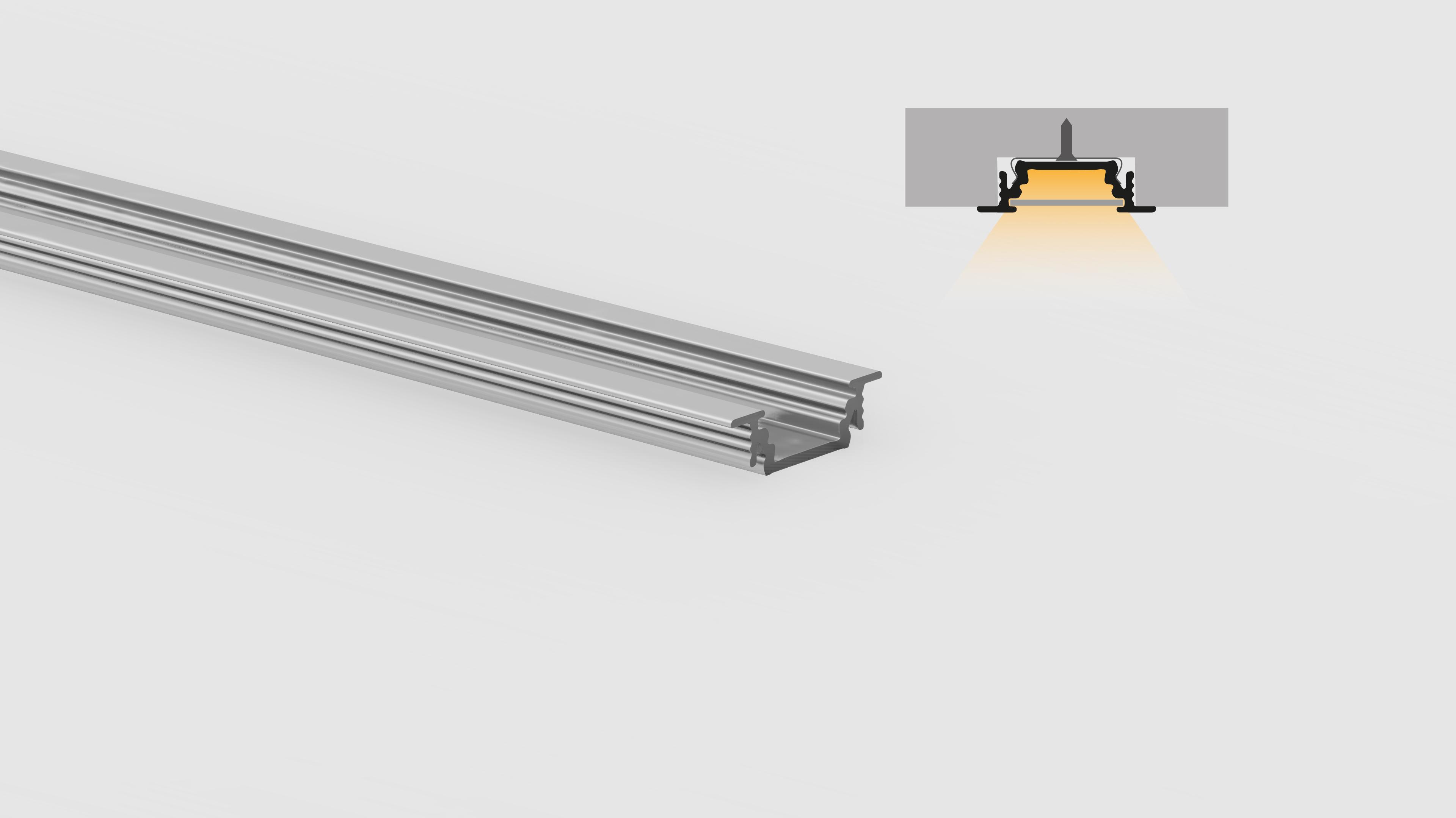 Profilo in alluminio – ad incasso – PR200