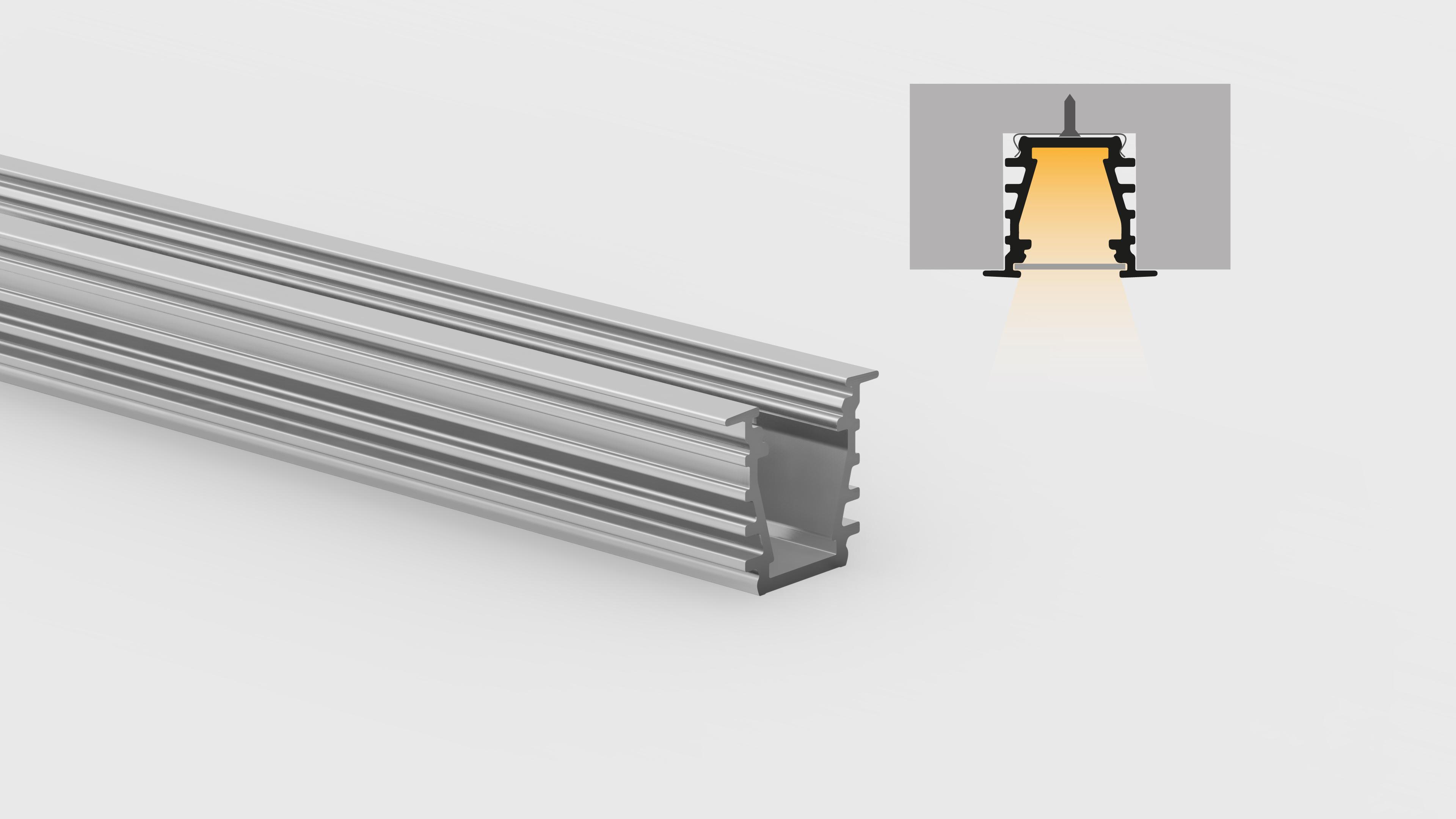 Profilo in alluminio – ad incasso – PR210