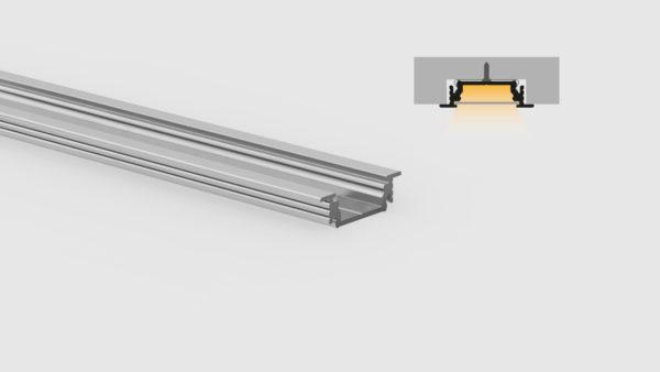 Profilo in alluminio - ad incasso - PR214