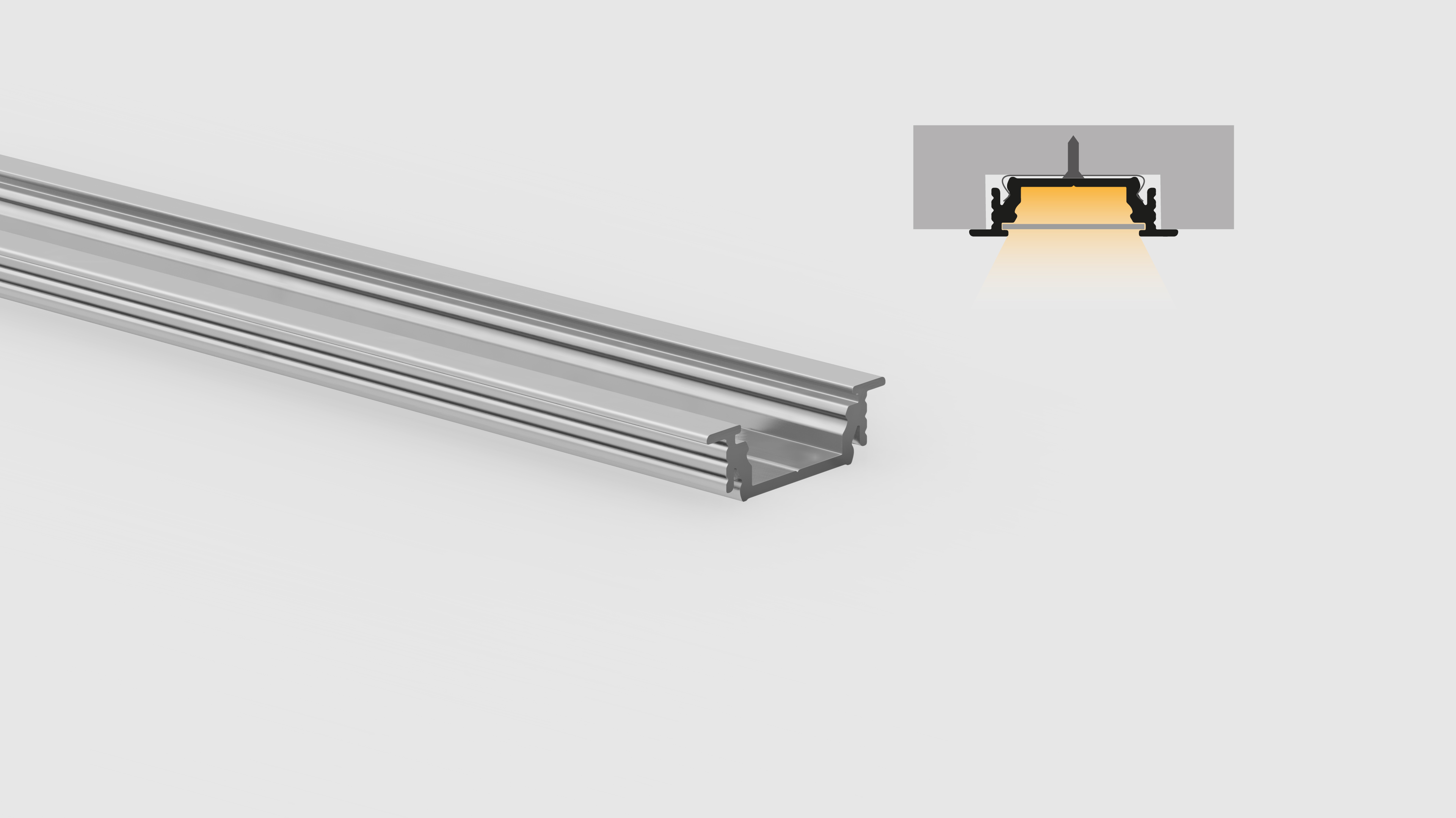 Profilo in alluminio – ad incasso – PR214