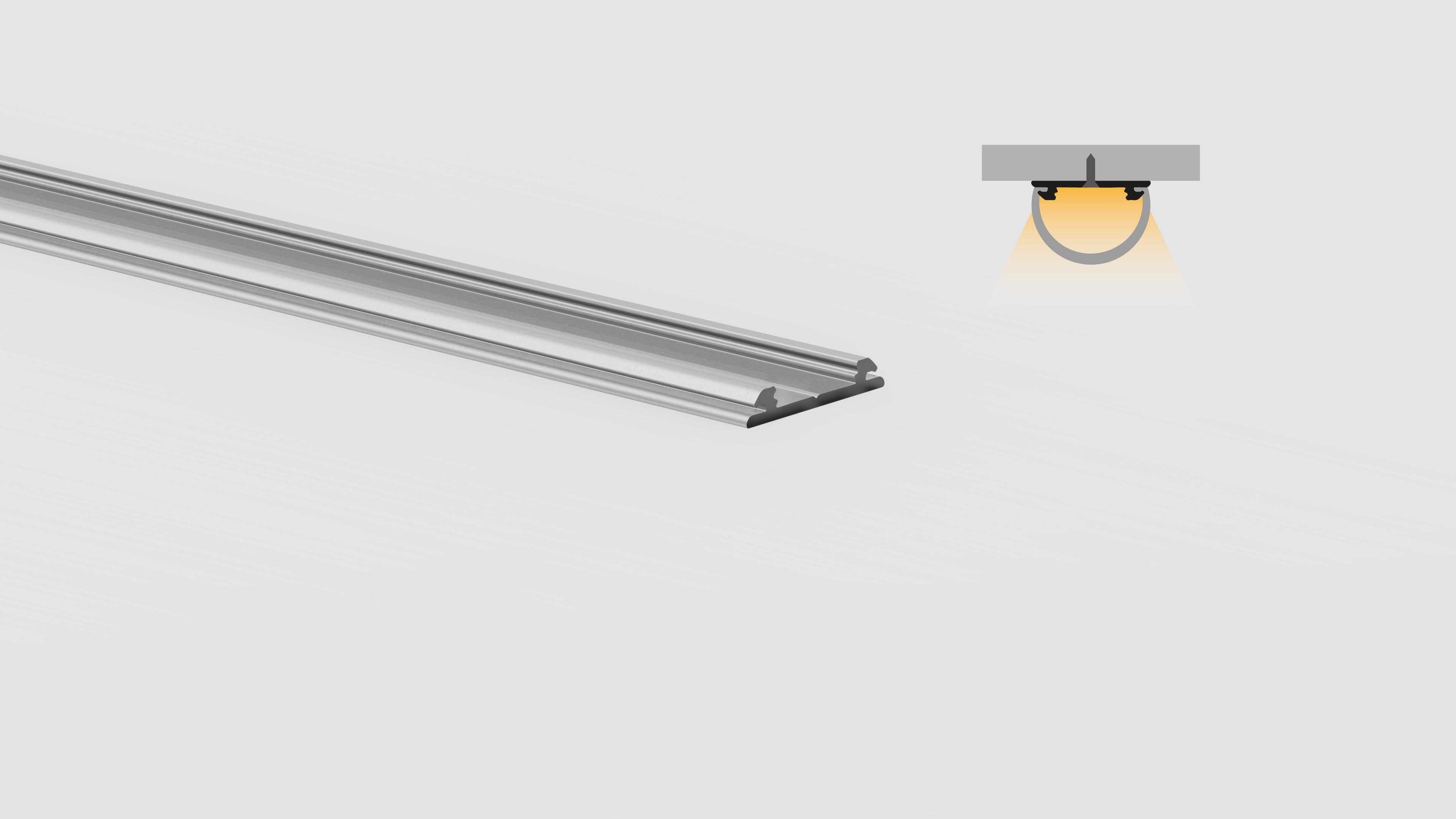 Profilo in alluminio – superfici curve – PR410