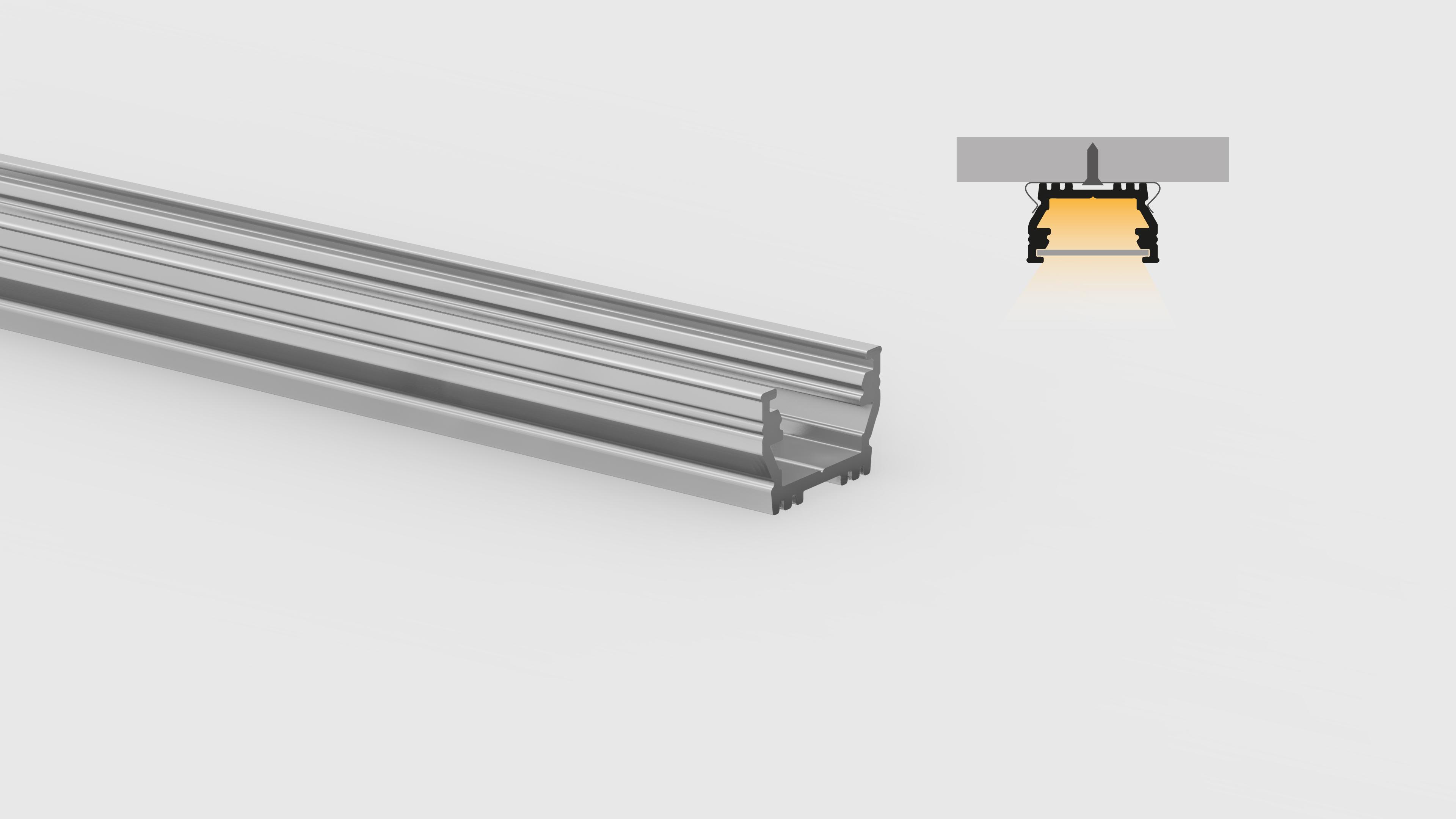 Profilo in alluminio – superfici piane – PR500