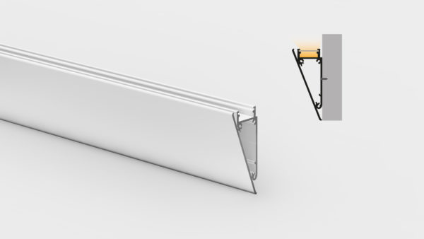 Profilo in alluminio - da parete - PR600