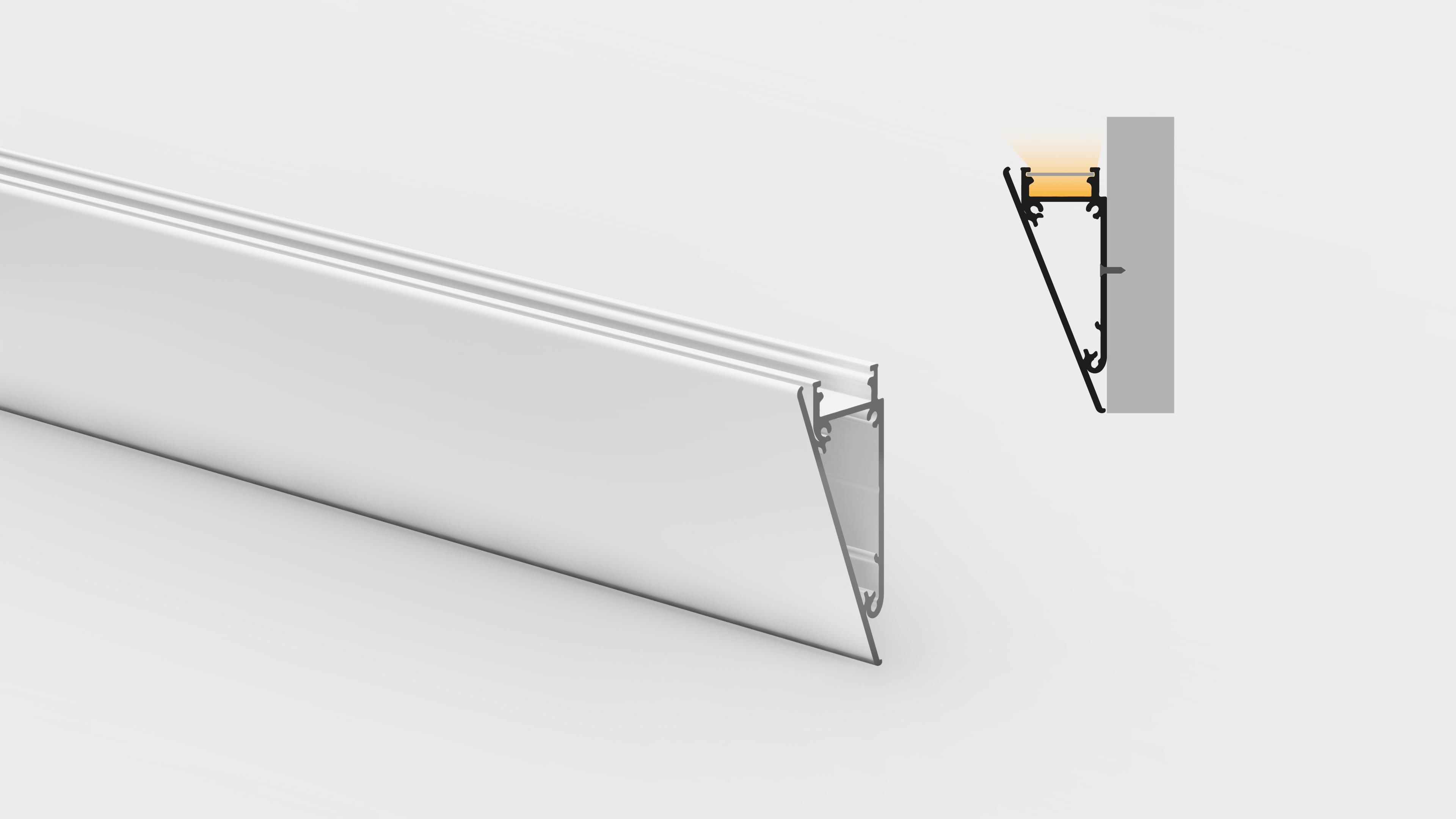 Profilo in alluminio – da parete – PR600