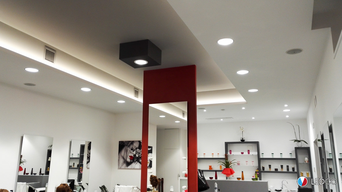 Illuminazione salone parrucchiere 2 bari ledco italia