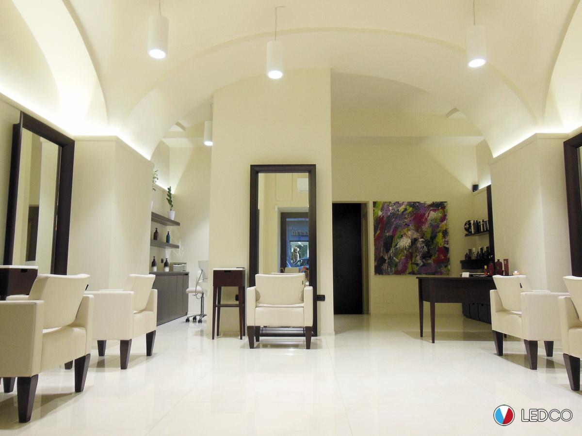 Illuminazione salone parrucchiere bari ledco italia