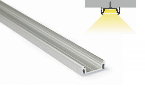 Profilo in alluminio - superfici piane - PR114
