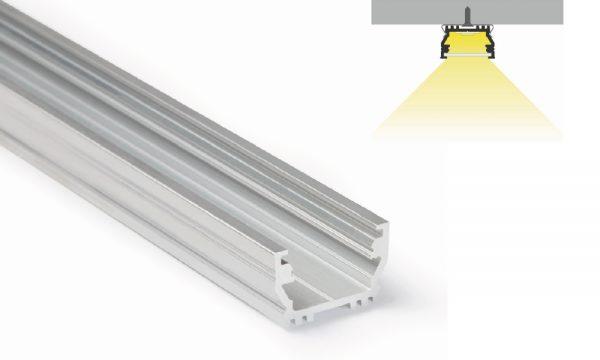 Profilo in alluminio - superfici piane - PR500