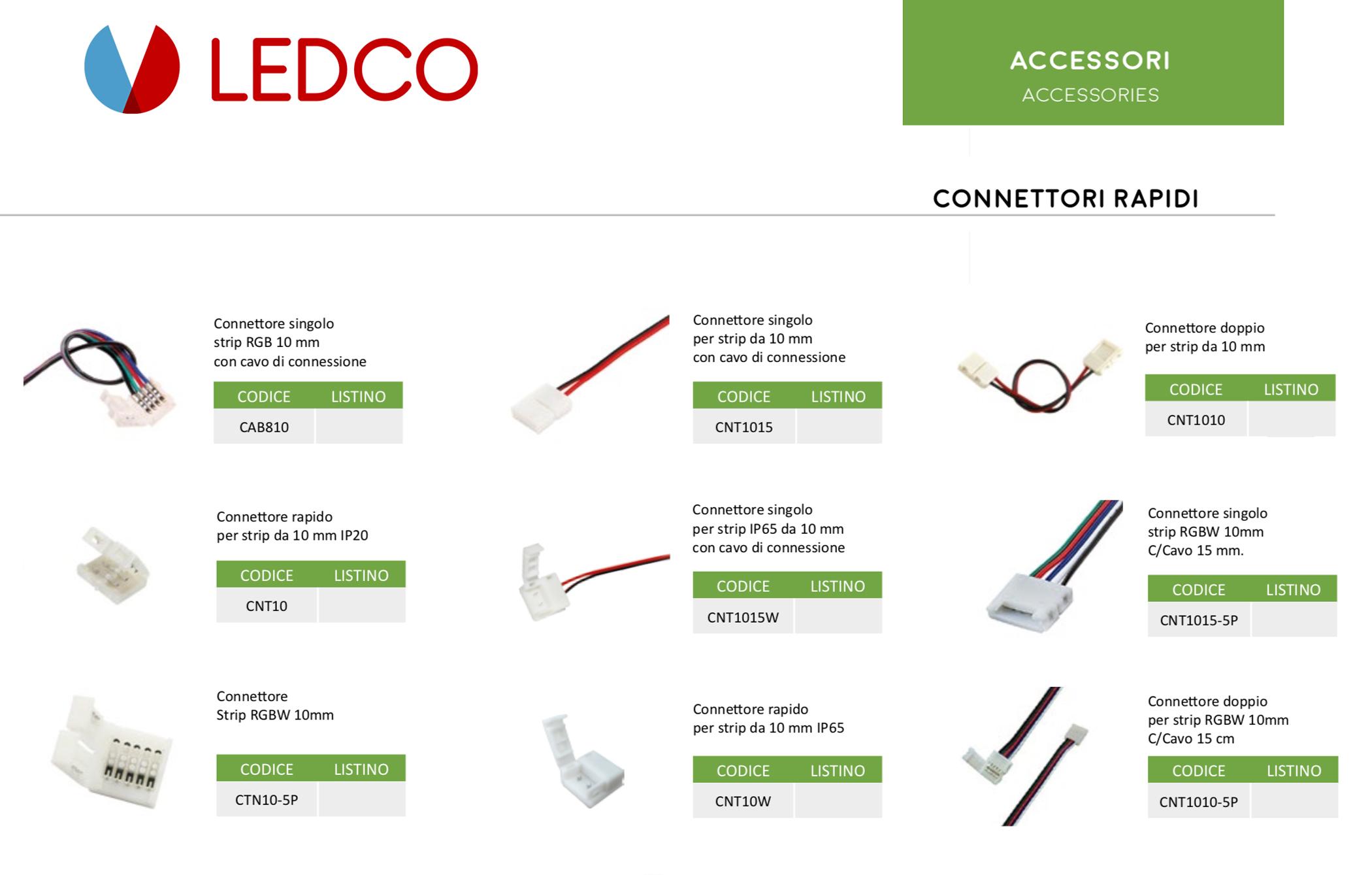 Cosa sono i Connettori Rapidi per Strip Led?