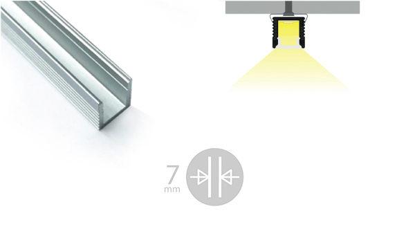 Profilo miniaturizzato installazioni superifici piane - PR105