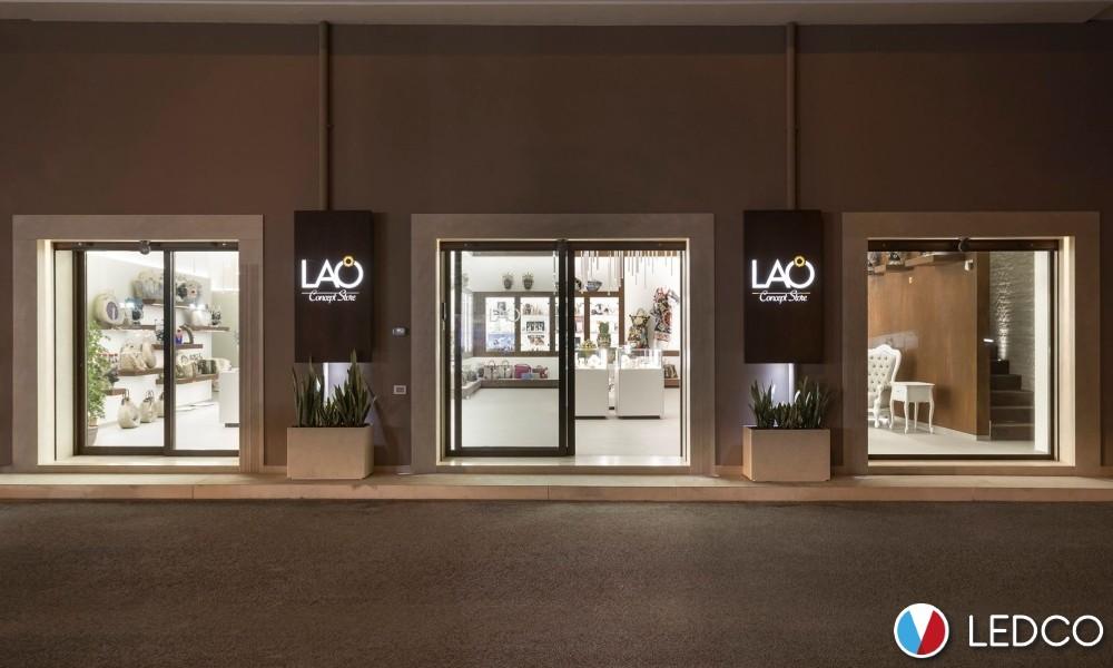 Illuminazione con strip led – LAO Concept Store – Sicilia