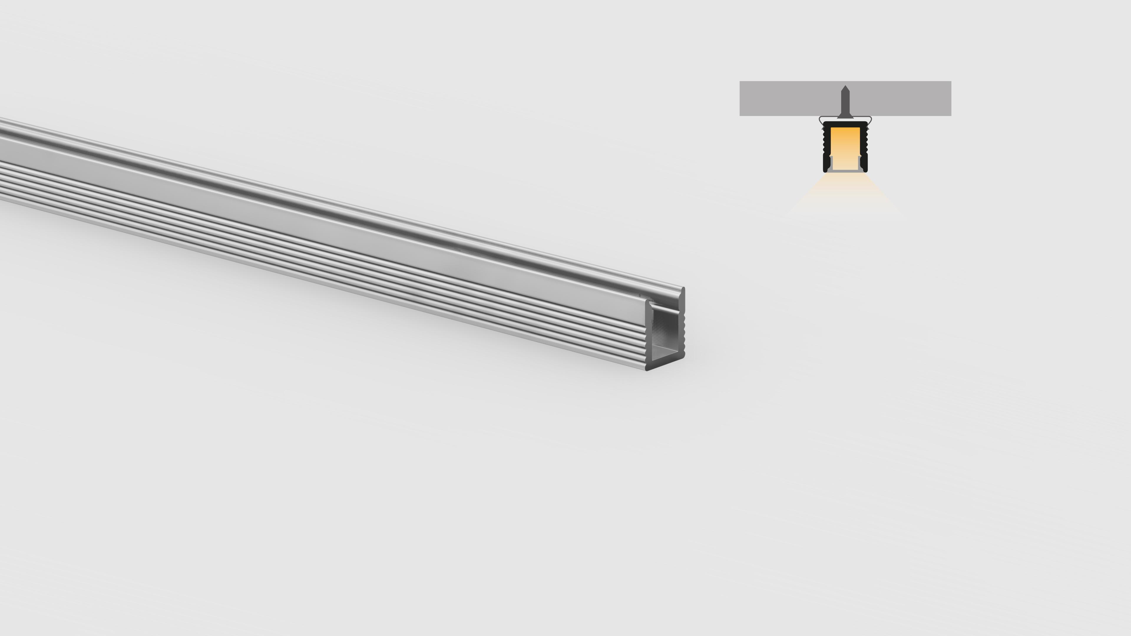 Profilo miniaturizzato installazioni superifici piane – PR105