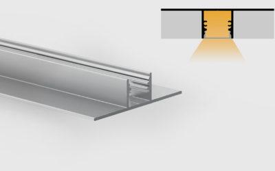 Profilo in alluminio anodizzato – ad incasso a scomparsa – PR221