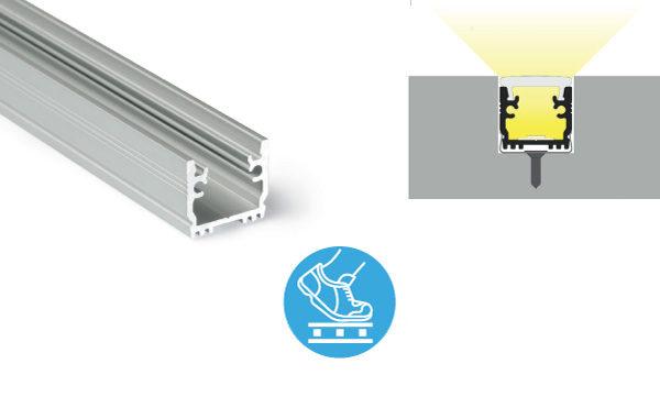 Profili a pavimento calpestabile carico statico fino a 150Kg - PR510F