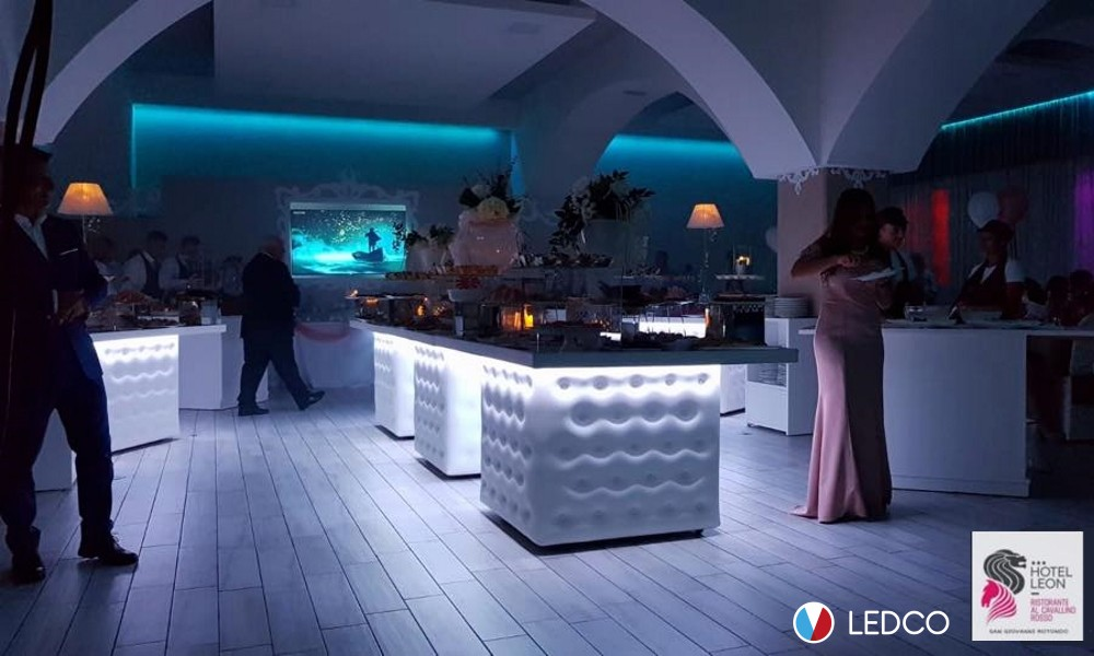 Strip led RGB – Hotel Leon – San Giovanni Rotondo