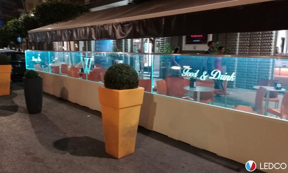 Illuminazione paravento – Bar Winner – Leuca