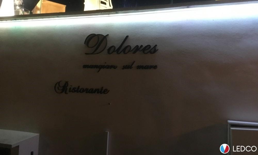 Illuminazione con strip led da esterno – Ristorante Dolores – Leuca