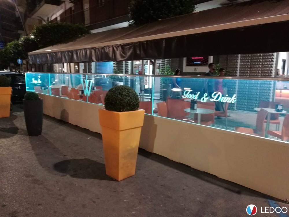 Illuminazione paravento bar winner leuca ledco italia
