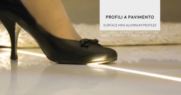 Profili a pavimento calpestabile per illuminare e arredare gli ambienti