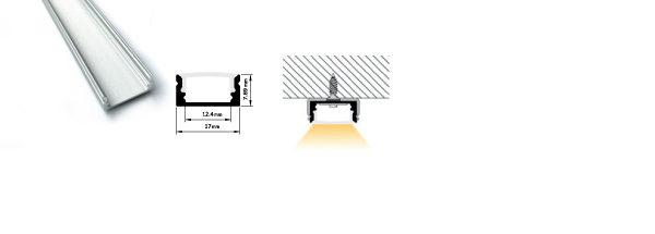 Profilo miniaturizzato installazioni superifici piane - PR110