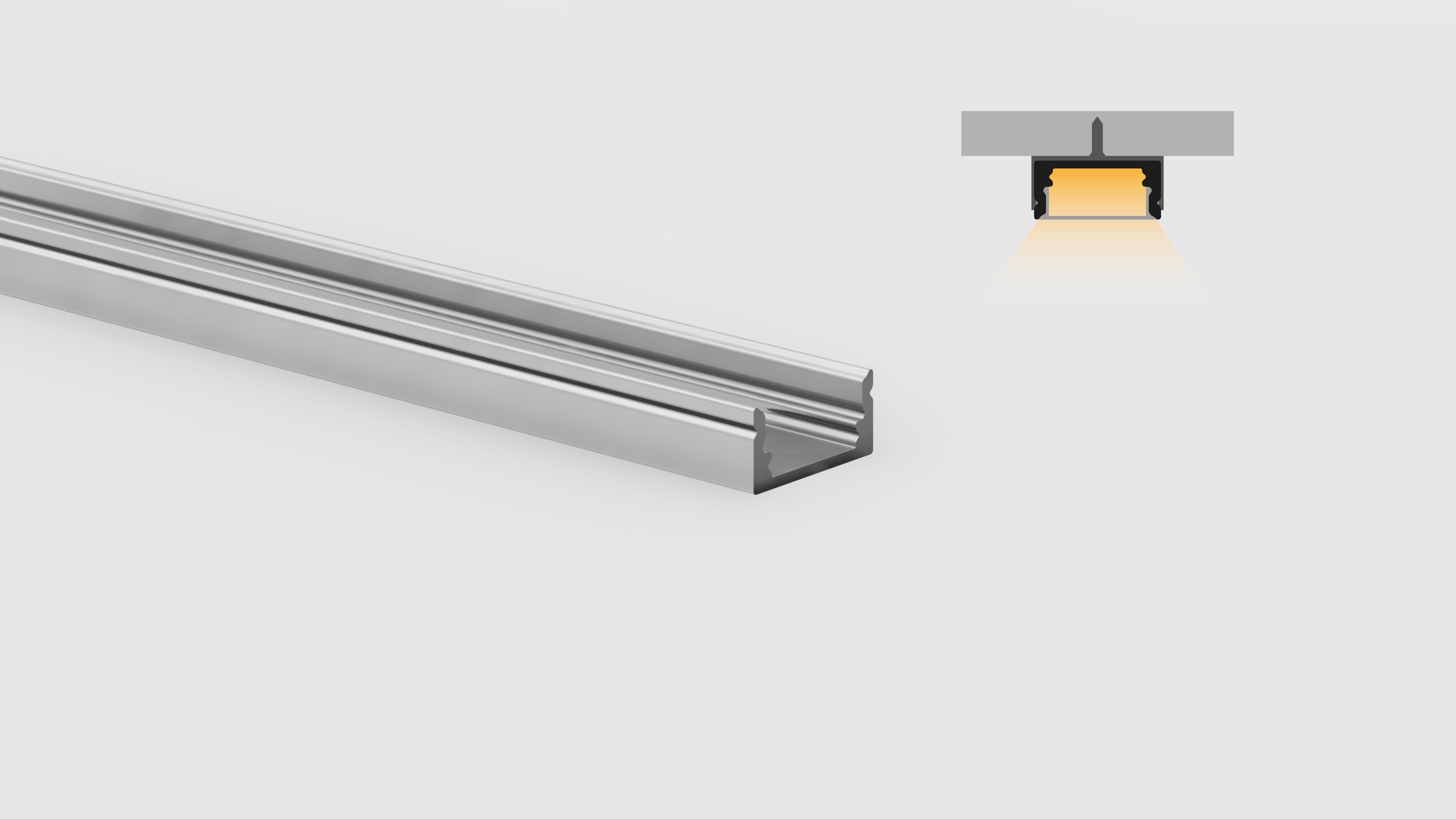 Profilo miniaturizzato installazioni superfici piane – PR110