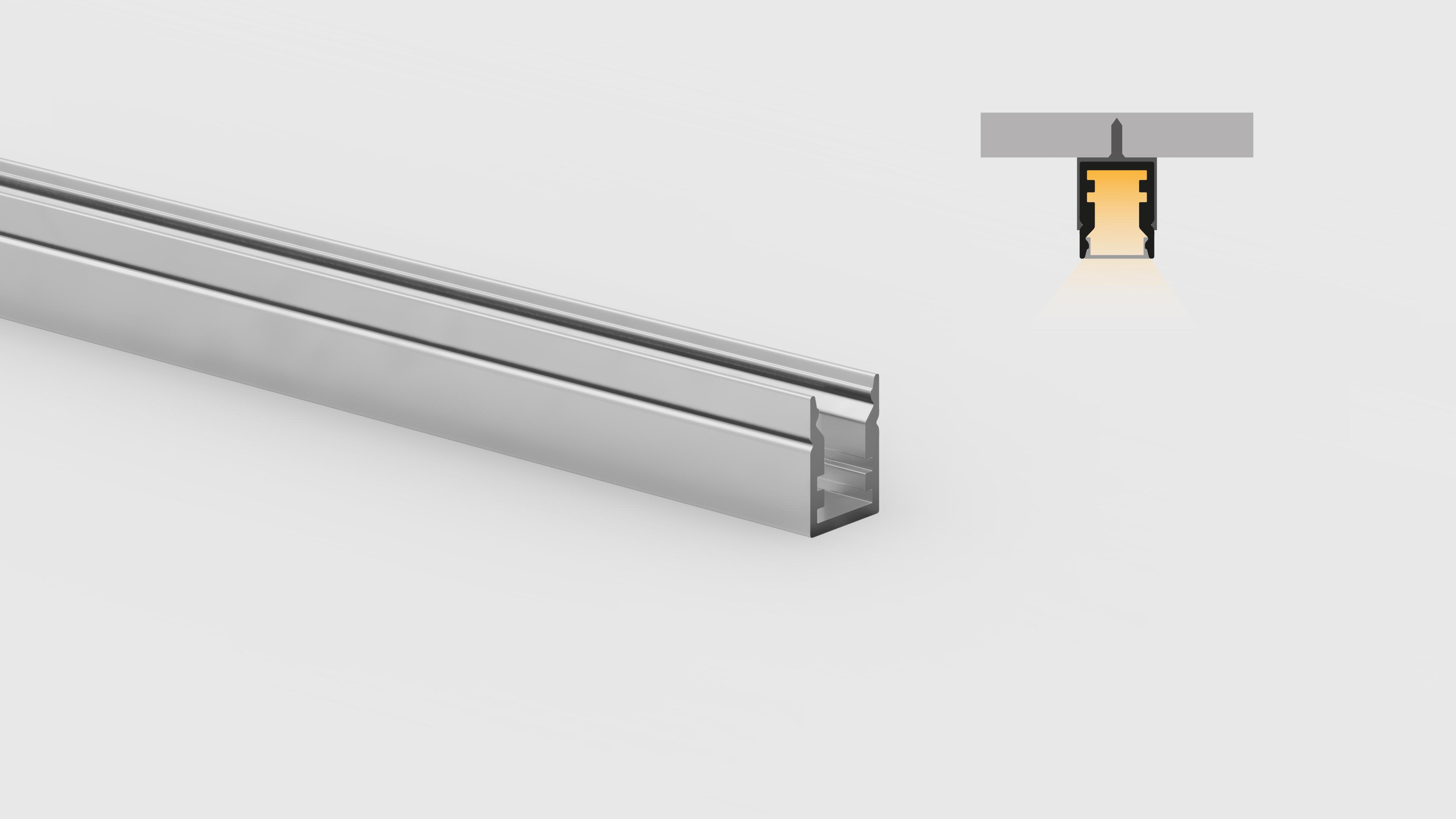 Profilo miniaturizzato installazioni superifici piane – PR113