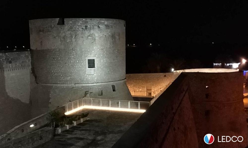 Strip led pvc da esterno – Castello Svevo – Manfredonia (FG)