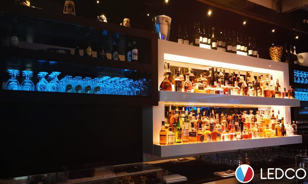 Illuminazione bar con strip led colorate gallipoli ledco italia
