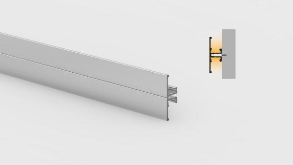 Profilo in alluminio - da parete - PR650