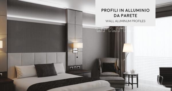Atmosfere luminose con i profili in alluminio da parete per valorizzare l'ambiente