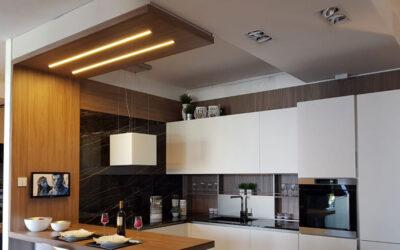 Black recessed LED bars – Casanova kitchen center – (Ba)
