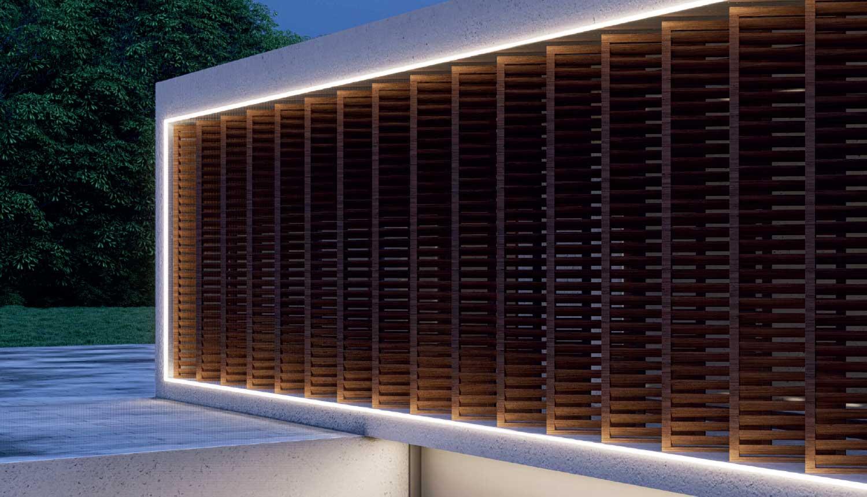immagine di finestra con strip led per esterni