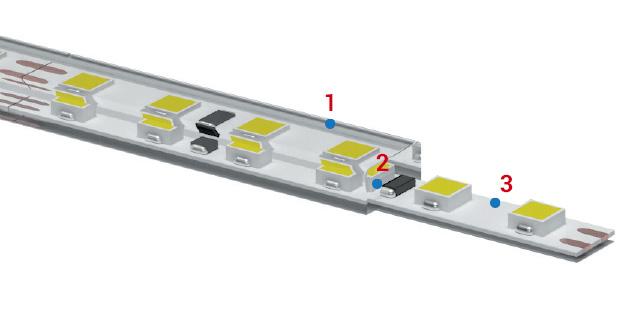 immagine della strip led IP68 adatta per illuminazione piscine