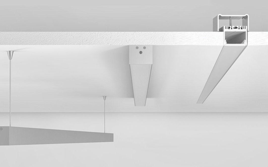 Profilo PR230, pronto per l'installazione ad incasso, superficie o sospensione