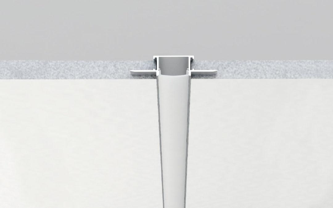Nuovo profilo ad incasso PR225: ampiezza e facilità d'installazione