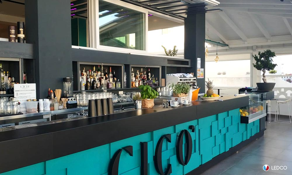 Illuminazione cocktail bar CiCò – Torre Santa Sabina (BR)