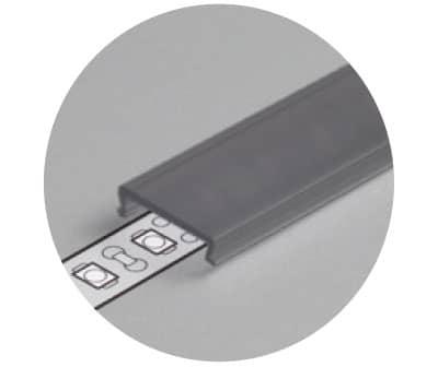 foto della cover nera per profili in alluminio PR910NE