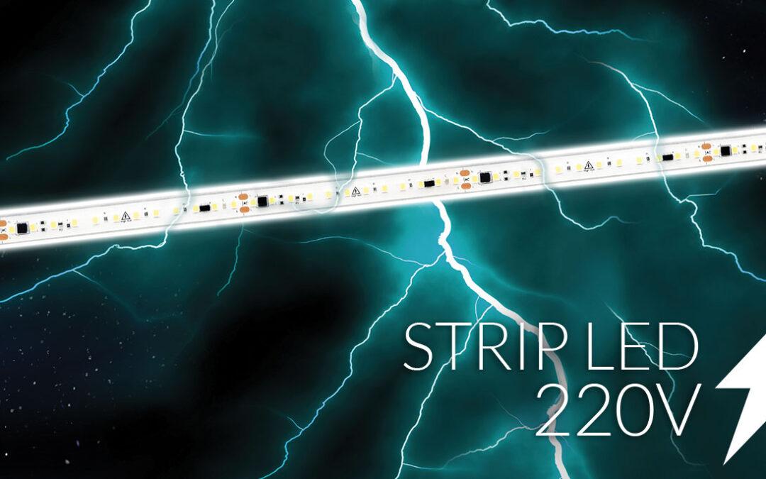 Nuova striscia led 220 Volt con protezione attiva contro il cortocircuito