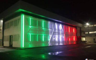 Illuminazione esterna capannone – Napoli