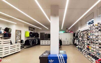 Illuminazione negozio Carnicella Sport