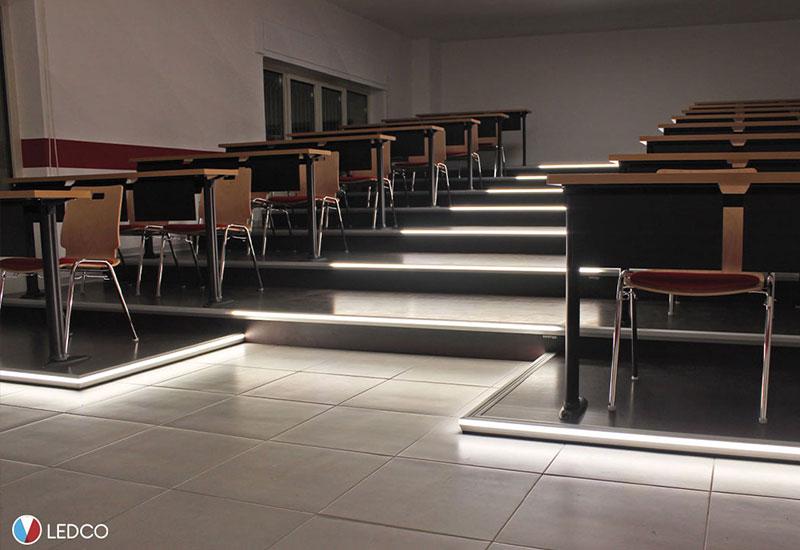 Teaching room lighting – Italian Red Cross