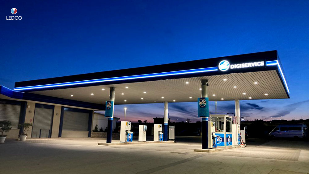 Service station lighting – Altamura (BA)