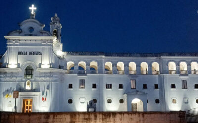Illuminazione croce Reale Basilica della Madonna del Pozzo