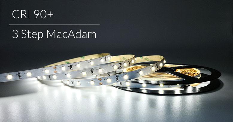 LED certificati CRI 90+ e 3 Step MacAdam l'illuminazione di qualità