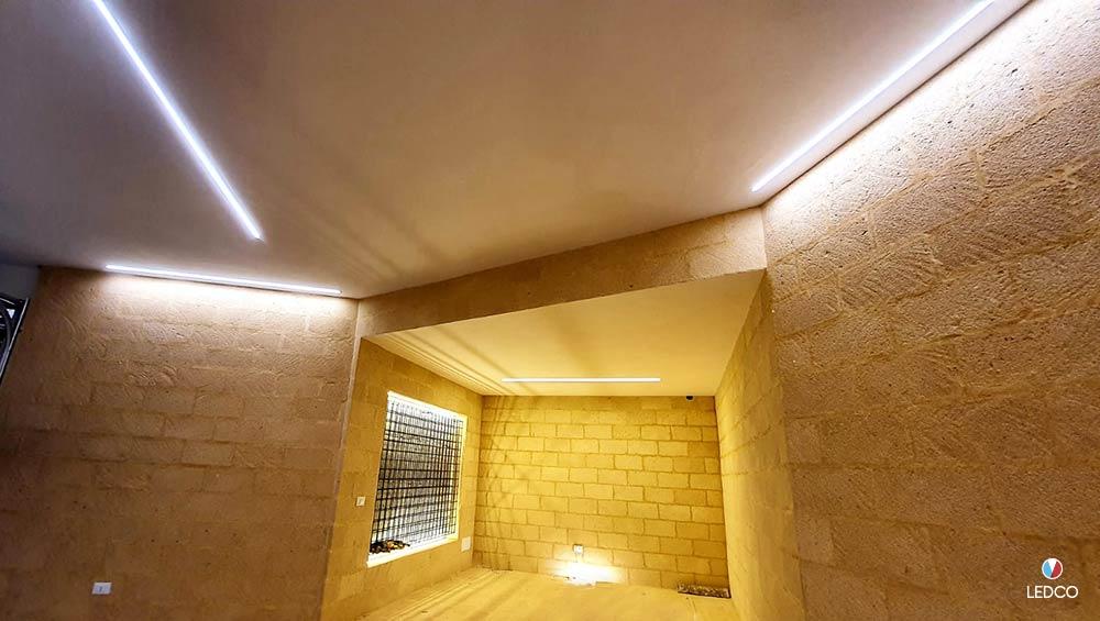 Illuminazione garage in villa – Sicilia