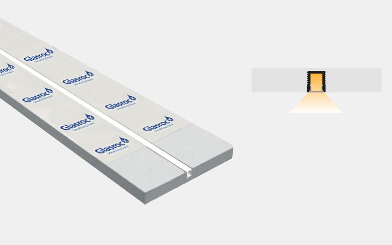 Profilo in alluminio preincassato in Glasroc per esterni – PG110/GR